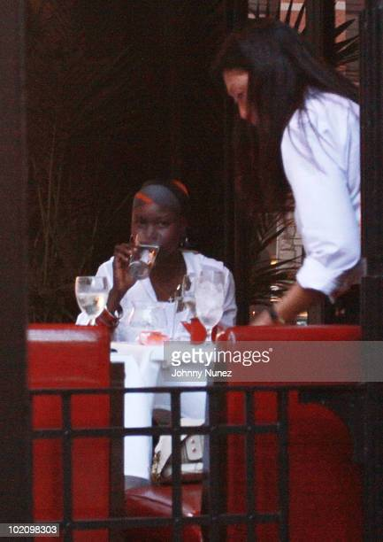 Alek Wek attends a cocktail party at Japonais on June 14, 2010 in New York City.