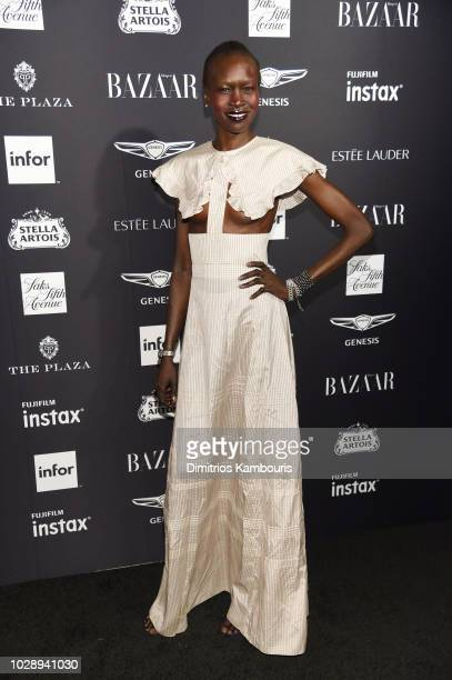 Alek Wek attends as Harper's BAZAAR Celebrates ICONS By Carine Roitfeld at the Plaza Hotel on September 7 2018 in New York City