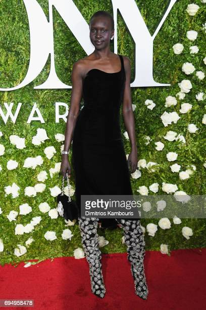 Alek Wek attends the 2017 Tony Awards at Radio City Music Hall on June 11 2017 in New York City