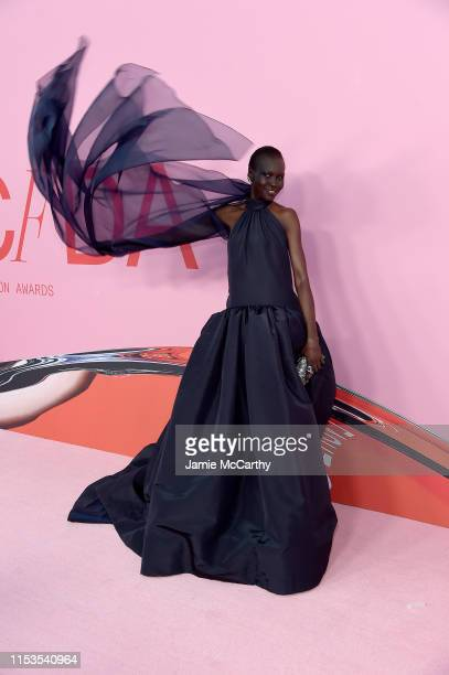 Alek Wek attends the CFDA Fashion Awards at the Brooklyn Museum of Art on June 03, 2019 in New York City.