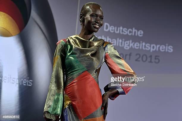 Alek Wek attends the German Sustainability Award 2015 at Maritim Hotel on November 27, 2015 in Duesseldorf, Germany.