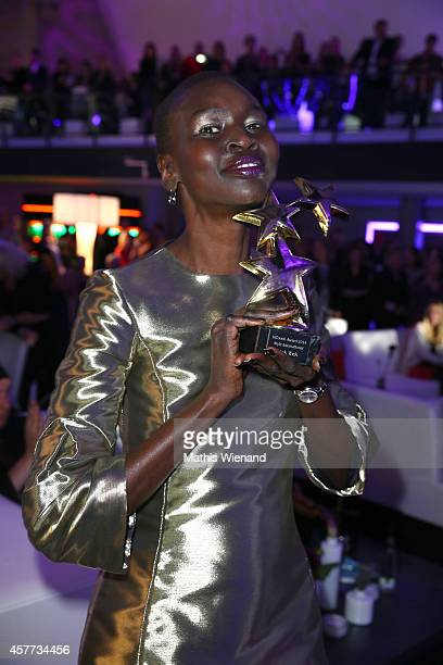 Alek Wek attends the InTouch Awards 2014 at Port Seven on October 23 2014 in Duesseldorf Germany