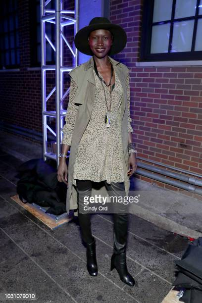 Alek Wek attends the screening of the rag bone film Time Of Day at The High Line on September 10 2018 in New York City
