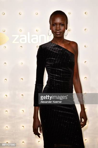 Alek Wek attends the Zalando Xmas bash hosted by Alek Wek at Haus Ungarn on December 13 2017 in Berlin Germany