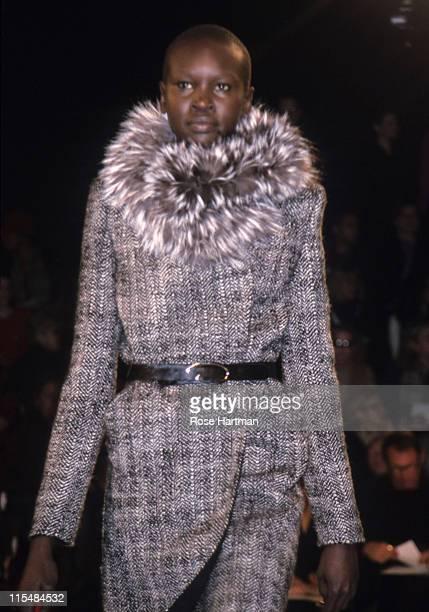 Alek Wek during Oscar De La Renta Fashion Show in New York City New York United States