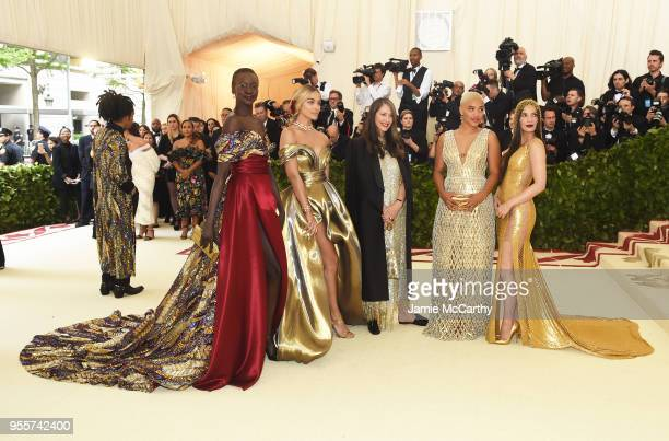 Alek Wek Jasmine Sanders Valerie Messika Kiersey Clemons and Olivia Munn attend the Heavenly Bodies Fashion The Catholic Imagination Costume...