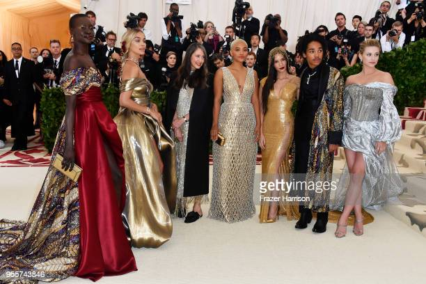 Alek Wek Jasmine Sanders Valerie Messika Kiersey Clemons Olivia Munn Luka Sabbat and Lili Reinhart attend the Heavenly Bodies Fashion The Catholic...