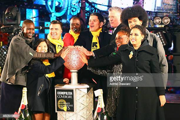 Alek Wek, Sonam Lama, Jencarlos Canela, Nykhor Paul, IRC President and CEO David Miliband, Mayor of New York City Bill de Blasio, Chirlane McCray,...