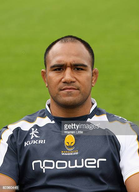 Aleki Lutui of Worcester poses for a portrait during the Worcester Warriors photo call for the 2008-9 Guinness Premiership season at Sixways on...