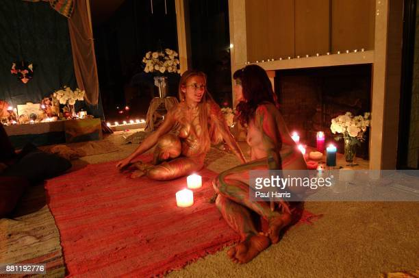 Aleks Evangueldi and Goddess Marla Howard after being painted by Star Oakland Star Oakland has organized a spiritual retreat high in the Santa Monica...