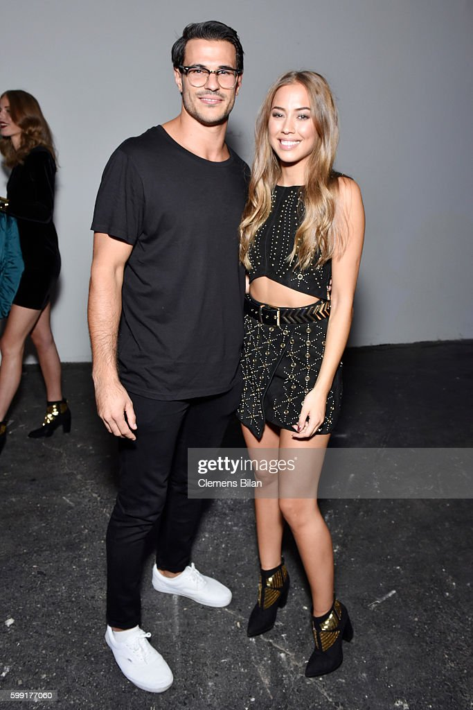 Aleks Subosic and Kenza Zouiten are seen backstage ahead of