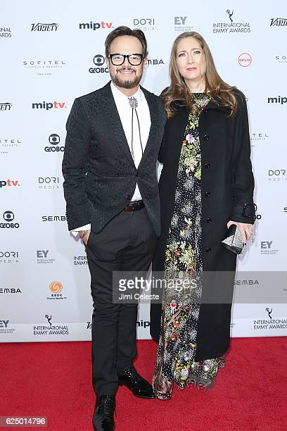 Aleks Syntek and wife attends The 44th International Emmy Awards at New York Hilton on November 21 2016 in New York City