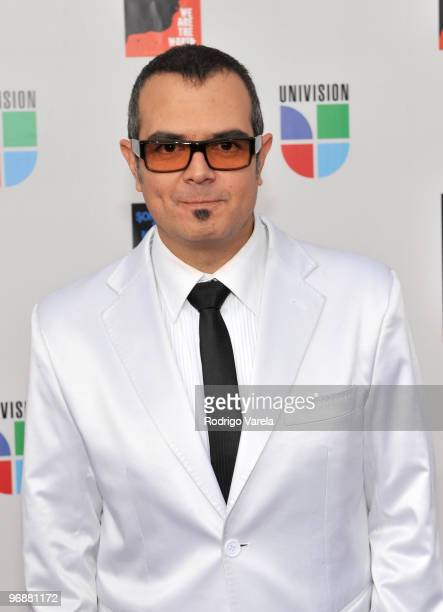 Aleks Syntek arrives at recording of 'Somos El Mundo' 'We Are The World' by Latin recording artist at American Airlines Arena on February 19 2010 in...