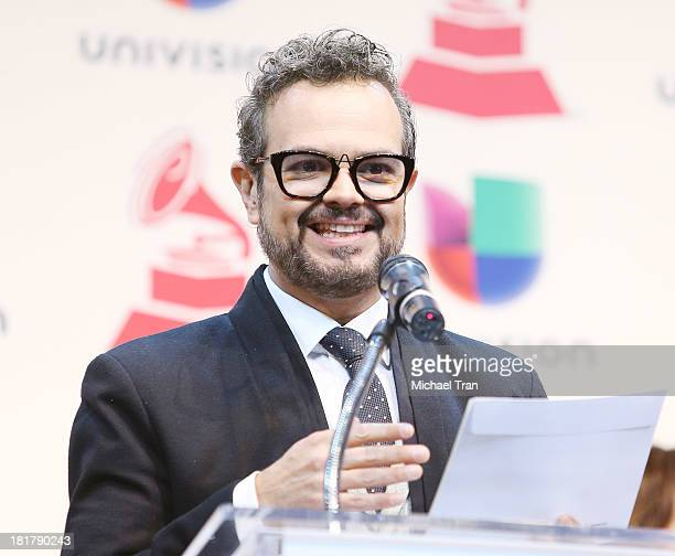 Aleks Syntek speaks at the 14th Annual Latin GRAMMY Awards nominations press conference held at Avalon on September 25 2013 in Hollywood California