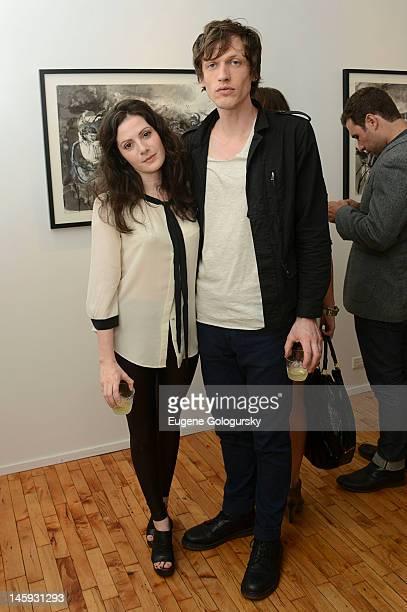 Aleksa Palladino and Devon Church attend Todd DiCiurcio Opening Exhibition at Westwood Gallery on June 7 2012 in New York City