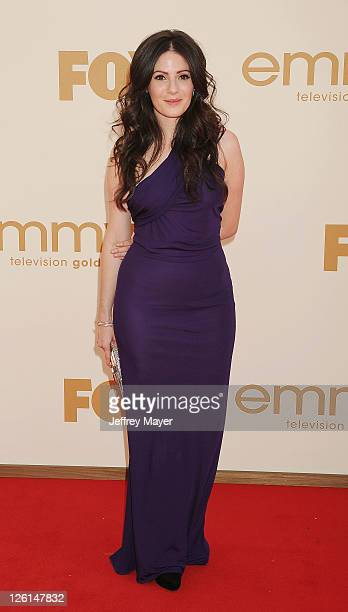 Aleksa Palladino arrives at the 63rd Primetime Emmy Awards at the Nokia Theatre LA Live on September 18 2011 in Los Angeles California