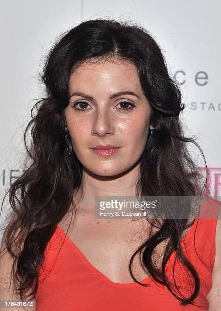 Aleksa Palladino attends The Cinema Society with Alice and Olivia screening of Sony Pictures Classics' 'Austenland' at Landmark's Sunshine Cinema on...