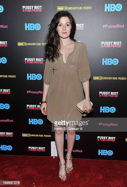 Aleksa Palladino attends the HBO with The Cinema Society screening of 'Pussy Riot A Punk Prayer' at Landmark's Sunshine Cinema on June 5 2013 in New...