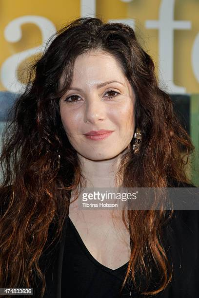 Aleksa Palladino attends the premiere of 'Illicit Ivory' hosted by Tippi Hedren at Los Angeles Zoo on May 26 2015 in Los Angeles California