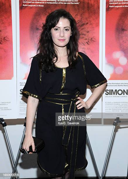 Aleksa Palladino attends the 'Simon Killer' New York Premiere at MOMA on April 2 2013 in New York City