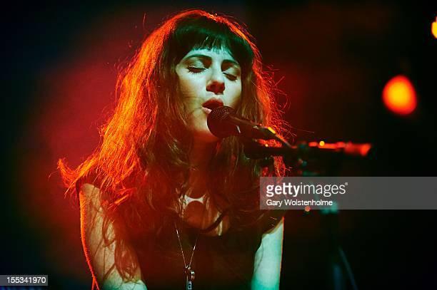 Aleksa Palladino of Exitmusic performs on stage during Iceland Airwaves Music Festival at Harpa on November 2 2012 in Reykjavik Iceland