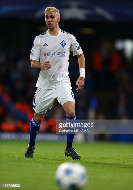 Aleksandar Dragovic of Dynamo Kiev during the UEFA Champions League Group G match between Chelsea and Dynamo Kyiv at Stamford Bridge on November 4...