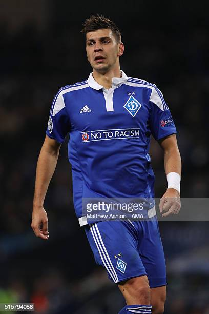 Aleksandar Dragovic of Dynamo Kiev during the UEFA Champions League match between Manchester City and Dynamo Kyiv at the Etihad Stadium on March 15...