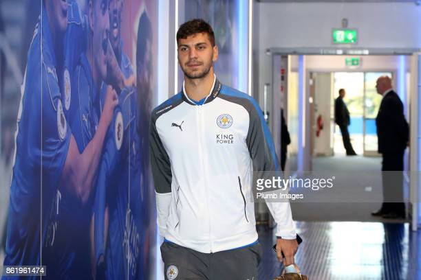 Aleksandar Dragovic of Leicester City arrives at King Power Stadium ahead of the Premier League match between Leicester City and West Bromwich Albion...