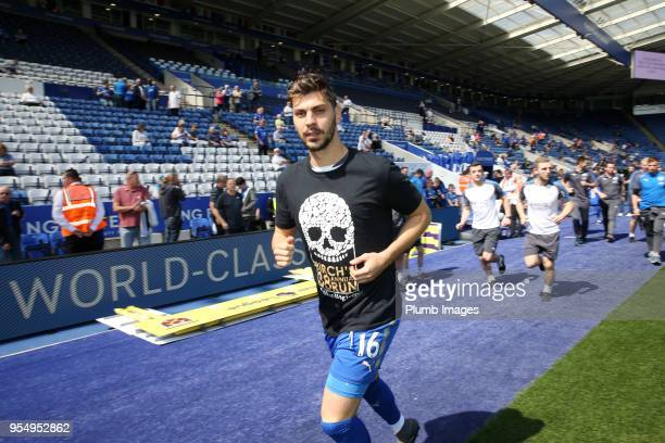 Aleksandar Dragovic of Leicester City during Alan Birchenall's 38th annual charity run ahead of the Premier League match between Leicester City and...