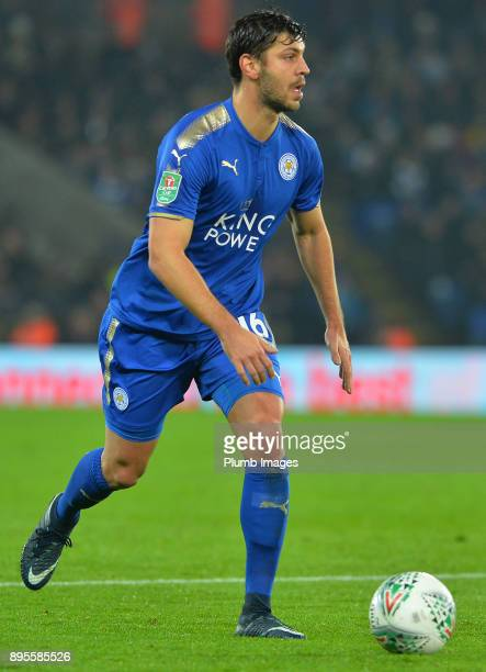 Aleksandar Dragovic of Leicester City during the Carabao Cup QuarterFinal match between Leicester City and Manchester City at King Power Stadium on...