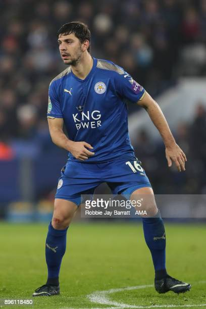 Aleksandar Dragovic of Leicester City during the Carabao Cup QuarterFinal match between here Leicester City v Manchester City at The King Power...