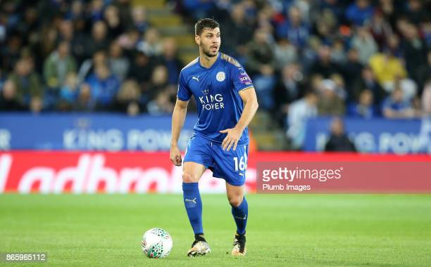 Aleksandar Dragovic of Leicester City in action during the Carabao Cup fourth round match between Leicester City and Leeds United at The King Power...
