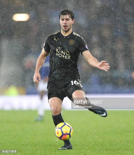 Aleksandar Dragovic of Leicester during the Premier League match between Everton and Leicester City at Goodison Park on January 31 2018 in Liverpool...