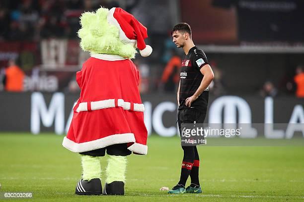 Aleksandar Dragovic of Leverkusen reacts after the Bundesliga match between Bayer 04 Leverkusen and FC Ingolstadt 04 at BayArena on December 18 2016...
