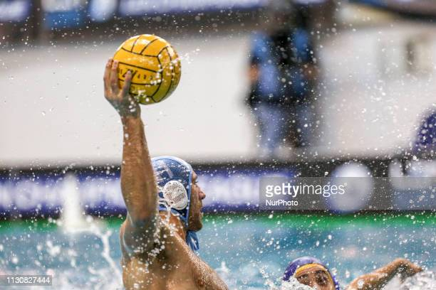 Aleksandar Ivovic of Pro Recco during the Champions League water polo match between Pro Recco and Barceloneta on march 15 2019 at Piscina Monumentale...