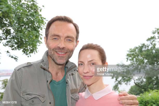 Aleksandar Jovanovic and Katharina Schuettler during the 'Fast perfekt verliebt' on set photo call on June 25 2018 in Hamburg Germany