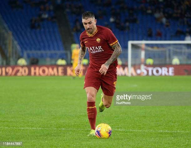 Aleksandar Kolarov during the Italian Serie A football match between AS Roma and Brescia at the Olympic Stadium in Rome on november 24 2019