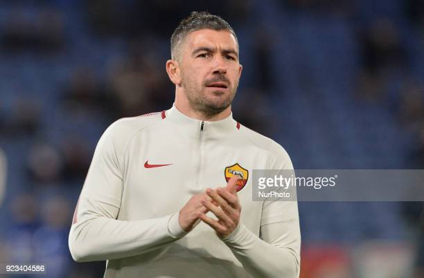 Aleksandar Kolarov during the Italian Serie A football match between AS Roma and Benevento at the Olympic Stadium in Rome on february 11 2018