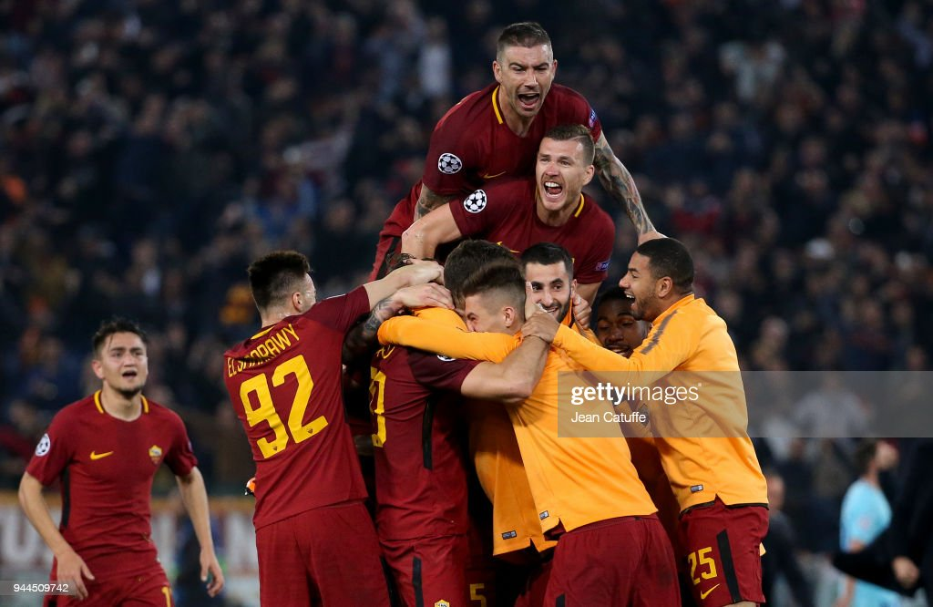 AS Roma v FC Barcelona - UEFA Champions League Quarter Final Second Leg