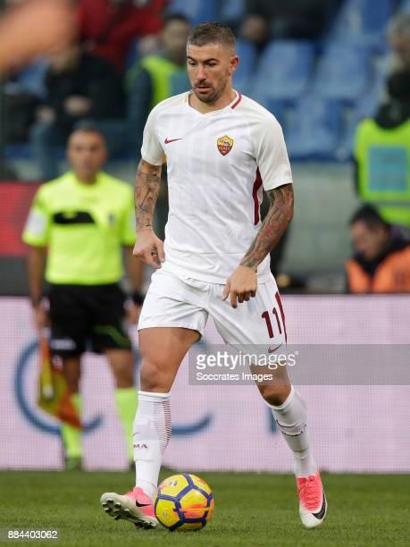 Aleksandar Kolarov of AS Roma during the Italian Serie A match between Genoa v AS Roma at the Stadio Luigi Ferraris on November 26 2017 in Rome Italy