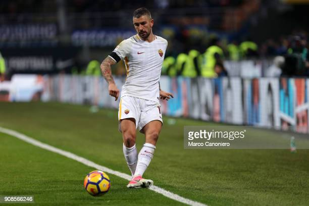 Aleksandar Kolarov of As Roma in action during the Serie A football match between Fc Internazionale and As Roma The match ended in a 11 tie