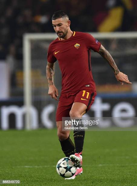 Aleksandar Kolarov of AS Roma in action during the UEFA Champions League group C match between AS Roma and Qarabag FK at Stadio Olimpico on December...
