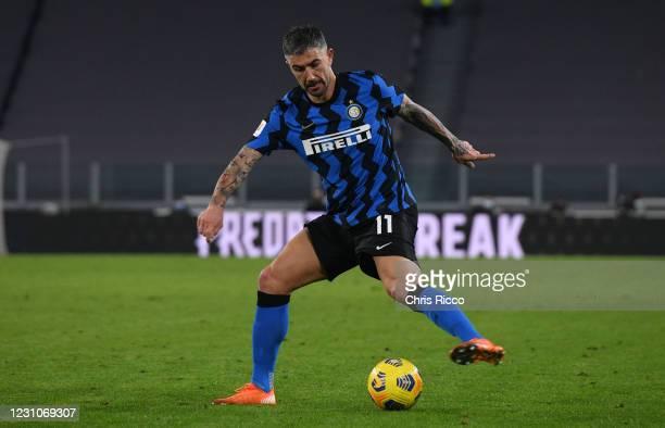 Aleksandar Kolarov of FC Internazionale controls the ball during the Coppa Italia semi-final match between Juventus and FC Internazionale at Allianz...