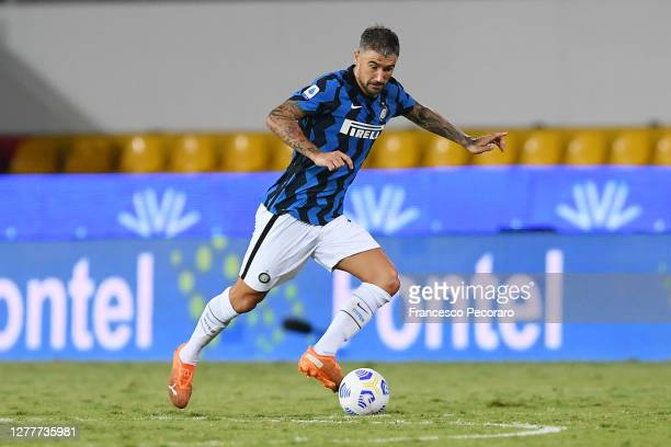 Aleksandar Kolarov of FC Internazionale during the Serie A match between Benevento Calcio and FC Internazionale at Stadio Ciro Vigorito on September...