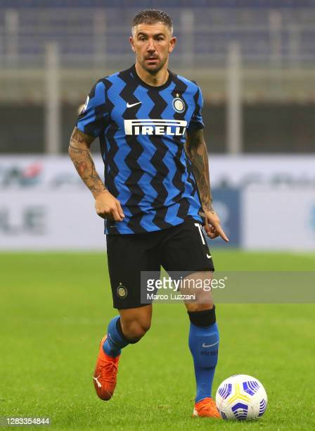 Aleksandar Kolarov of FC Internazionale in action during the Serie A match between FC Internazionale and Parma Calcio at Stadio Giuseppe Meazza on...