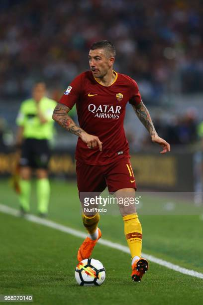 Aleksandar Kolarov of Roma at Olimpico Stadium in Rome Italy on May 13 2018 during Serie A match between AS Roma and Juventus