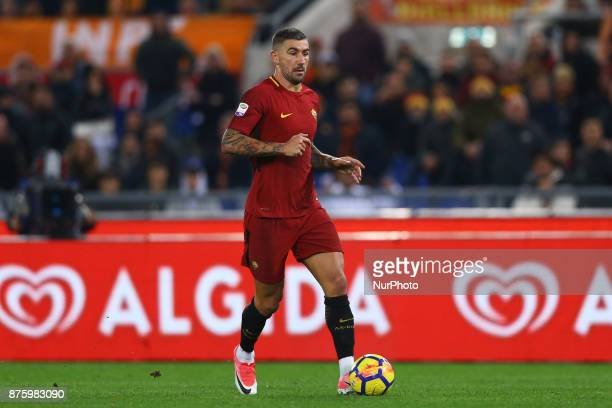 Aleksandar Kolarov of Roma during the Italian Serie A football match AS Roma vs Lazio on November 18 2017 at the Olympic stadium in Rome