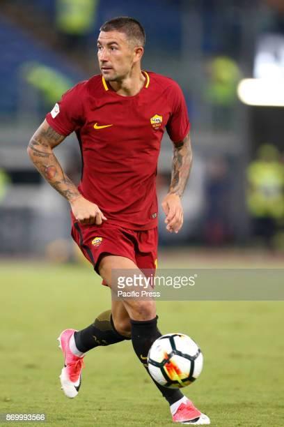 Aleksandar Kolarov of Roma during the Italian Serie A soccer match against Inter in Rome Inter defeating Roma 31