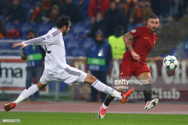 Aleksandar Kolarov of Roma during the UEFA Champions League Group C football match AS Roma vs FK Qarabag on December 5 2017 at the Olympic stadium in...
