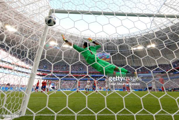 Christian Bolanos of Costa Rica looks for a pass during the game against Serbia during the 2018 FIFA World Cup Russia group E match between Costa...